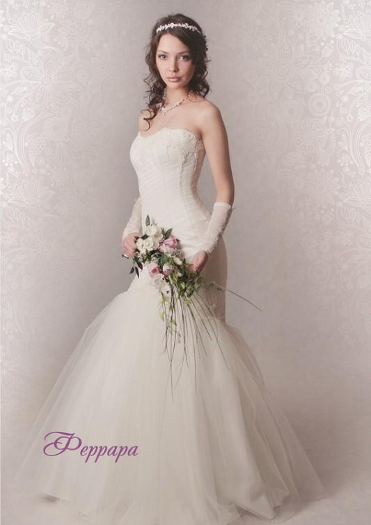 Изящное свадебное платье Русалка/Рыбка, расшитое бисером.