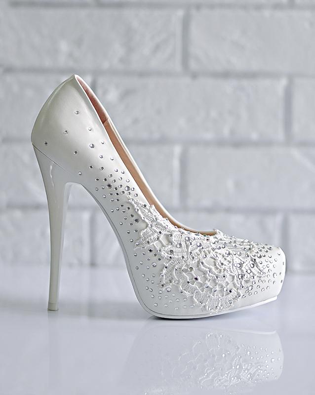 Свадебные туфли: CF608-TB201 - купить | В белом - свадебный салон