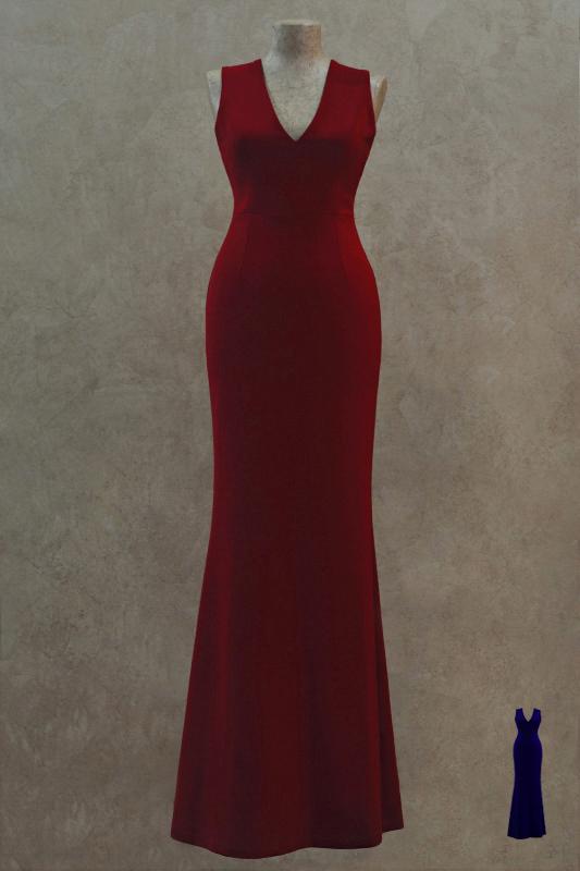 Шикарное длинное вечернее платье.