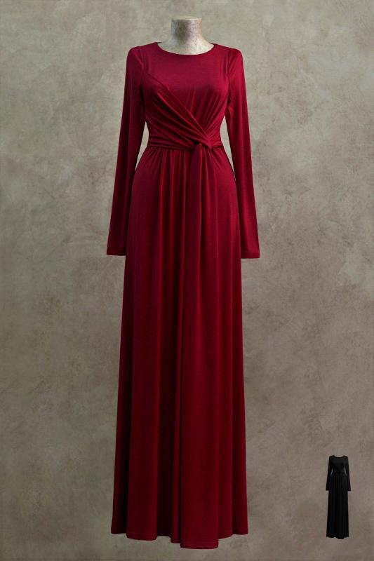 Благородное длинное вечернее платье.