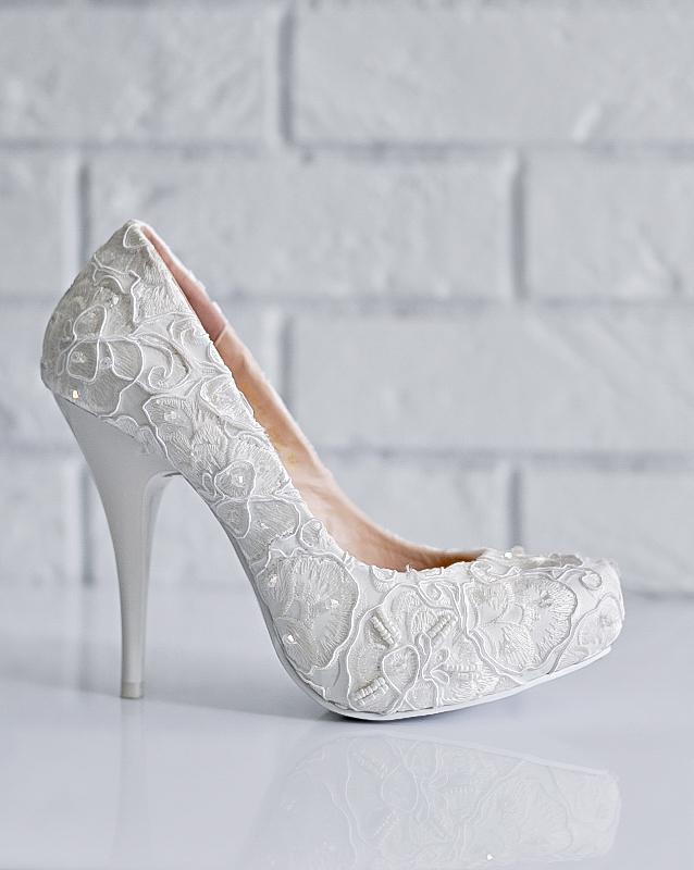 Свадебные туфли: KF843-TB54 - купить | В белом - свадебный салон