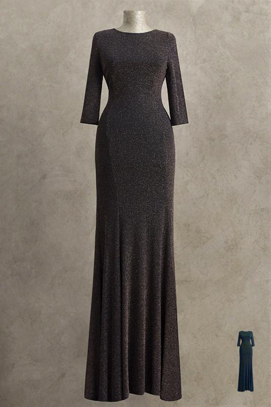 Модное длинное вечернее платье.