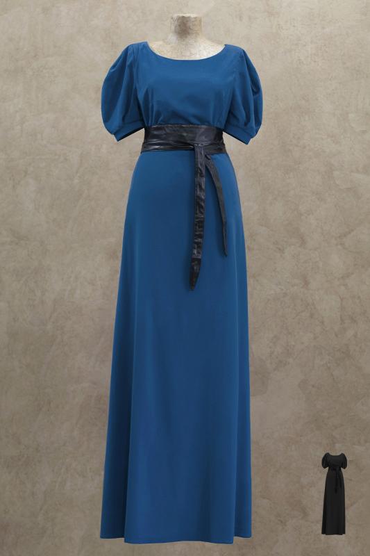 Легкое длинное вечернее платье.
