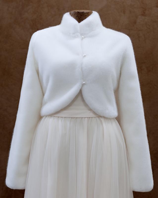 Свадебная накидка: КМК-0315 - купить | В белом - свадебный салон