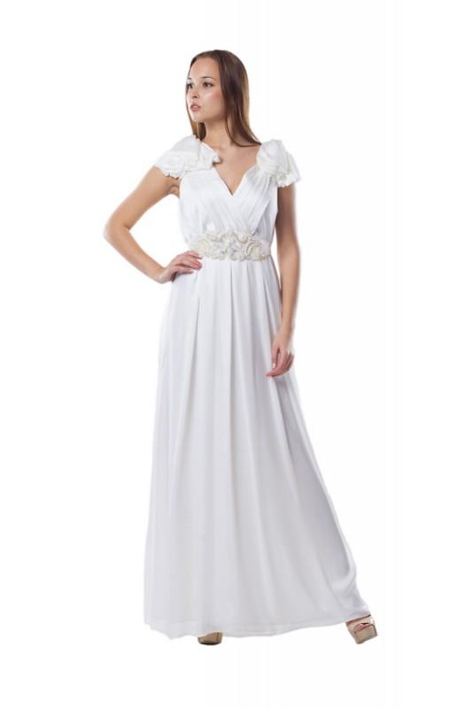 Белое свадебное платье в греческом стиле Jasmine