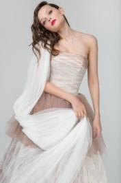 Шоколадное пышное свадебное платье Прага 2
