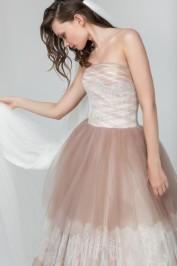 Шоколадное пышное свадебное платье Прага 3