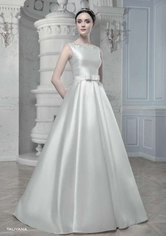 Изящное свадебное платье А-силуэта TALIYANA