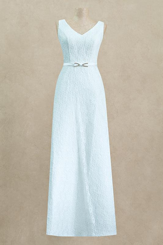 Нежноедлинное вечернее платье.