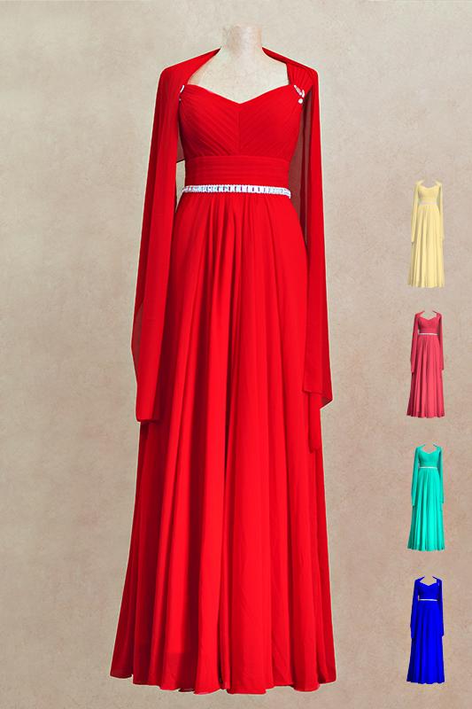 Элегантноедлинное вечернее платье.