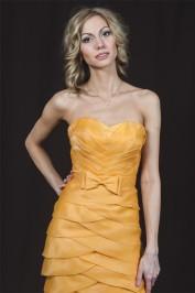 Жёлтое свадебное платье русалка