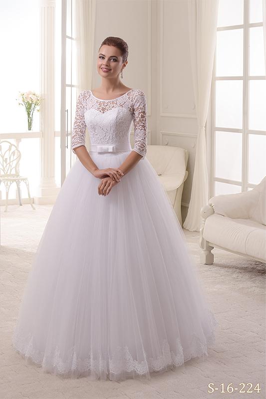 Восхитительное пышное свадебное платье.