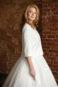 Укороченное свадебное пальто с длинным рукавом