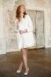 Элегантное свадебное пальтос длинным рукавом.