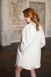 Элегантное свадебное пальто с длинным рукавом 4