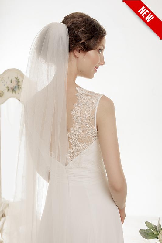 Прямое свадебное платье.