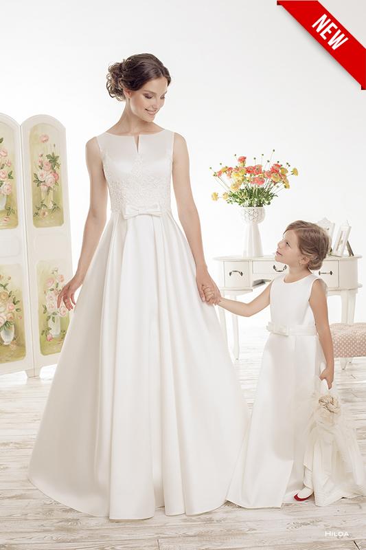 Традиционное свадебное платье.