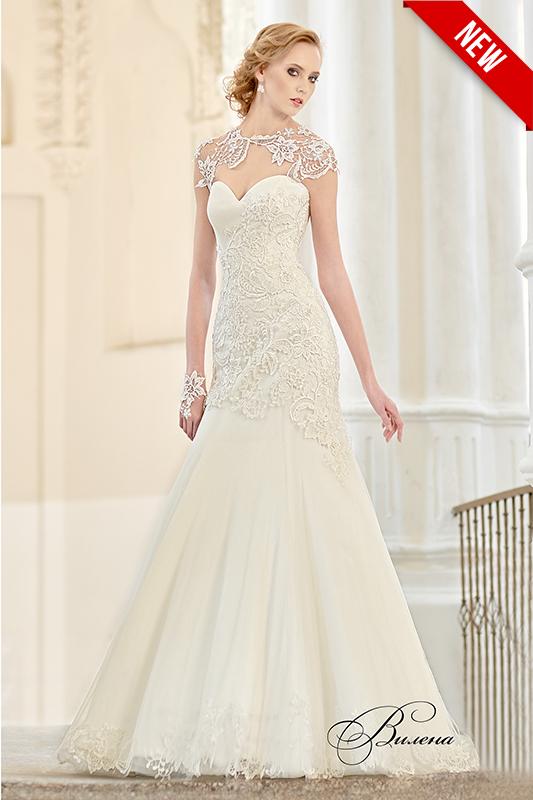 Свадебное платье русалка в белом цвете.