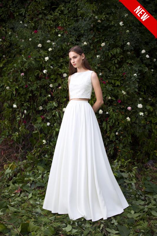 Изящное свадебное платье А силуэта.