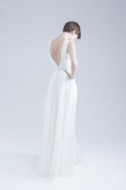 Свадебное платье А-силуэта в стиле минимализма Ameli