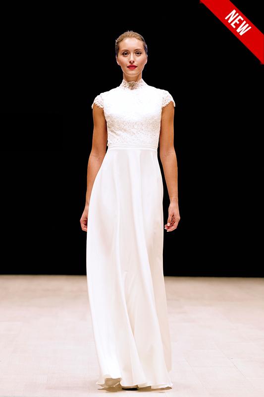 Минималистичное свадебное платье.