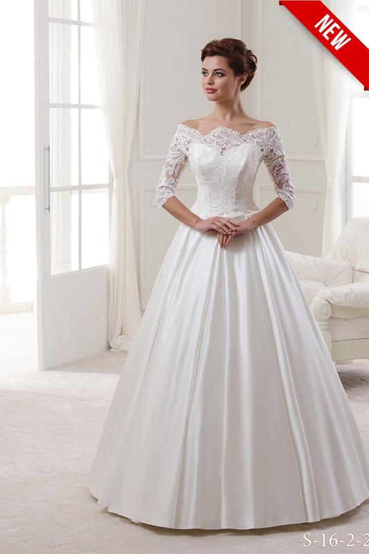 Подвенечное кружевное свадебное платье.