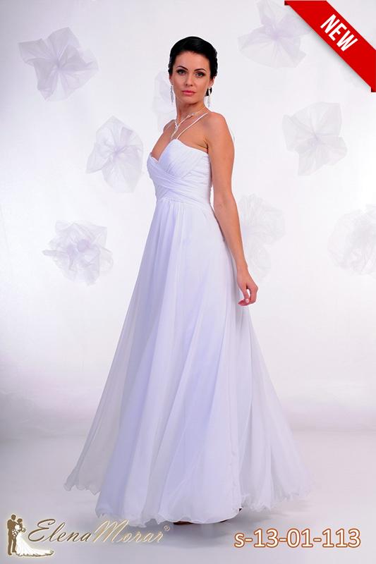 Традиционное роскошное свадебное платье.