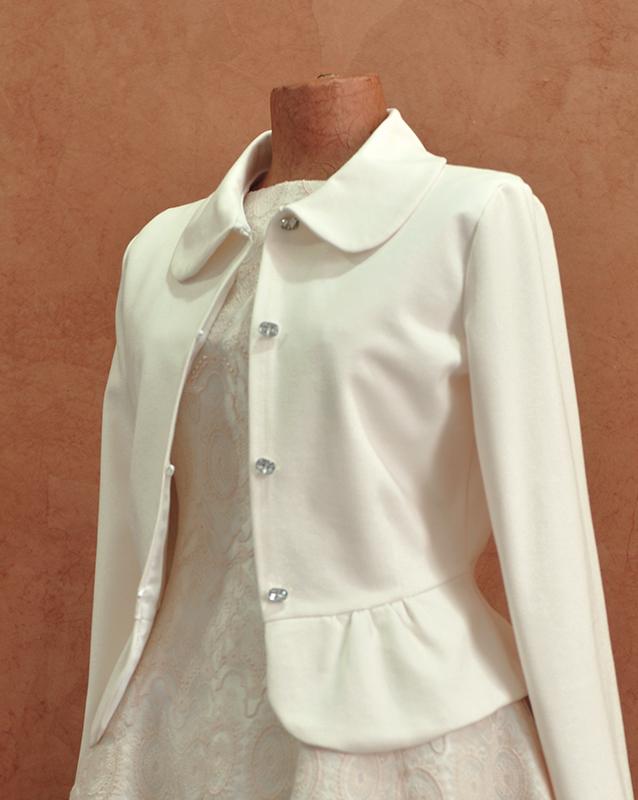 8 royal piece of attire paired with bolero jacket