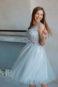 Короткое пышное вечернее платье