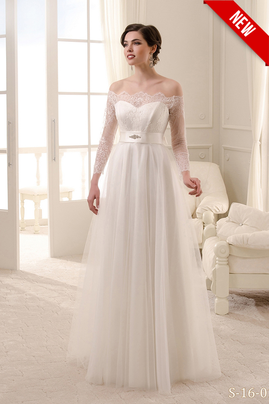 Подвенечное платье цвета айвори