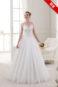 Открытое подвенечное свадебное платье.