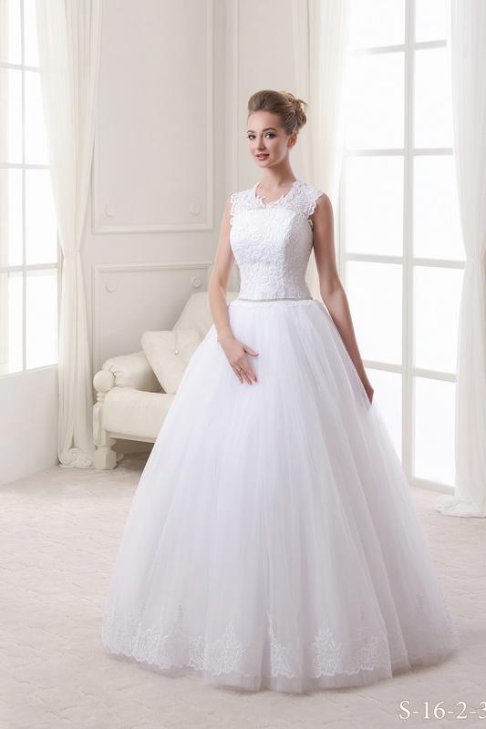 Белое свадебное платье: S16-2-320 - фото 1