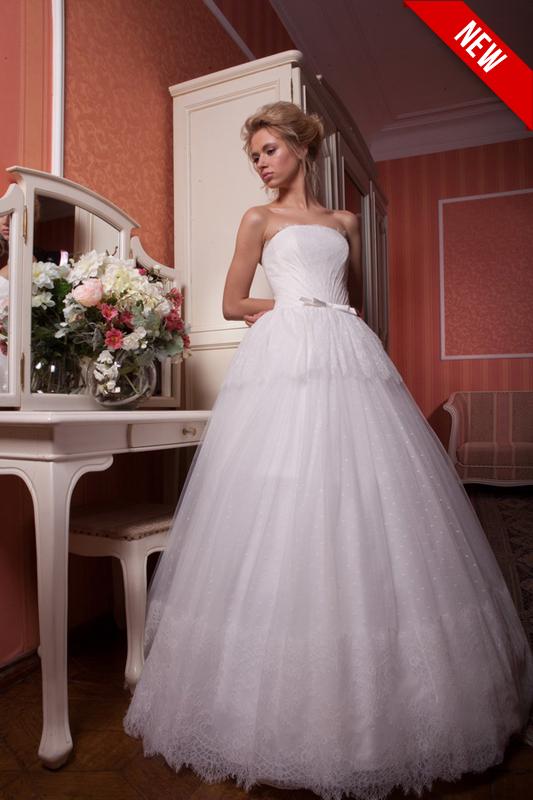 Бальное свадебное платье.