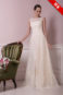 Классическое простое свадебное платье.