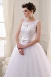 Открытое пышное свадебное платье S-16-073 (2)