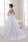 Кружевное бальное свадебное платье с поясом.
