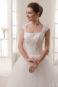 Пышное свадебное бальное платье на лямках.