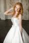 Пышное легкое свадебное платье без бретелек.