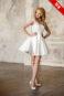 Короткое атласно-кружевное свадебное платье