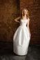 Цилиндрообразное свадебное платье в пол.
