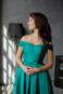 Классическое длинное вечернее платье без бретелек