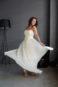 Классическое открытое, прямое вечернее платье