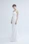 Простое свадебное платье в стиле минимализма.