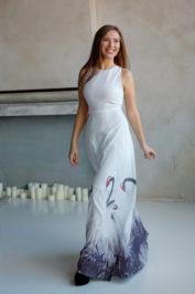 Белое длинное платье ММ 2308