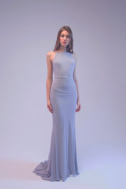 Свадебное платье бледно-сиреневого цвета 4017 — фото 1