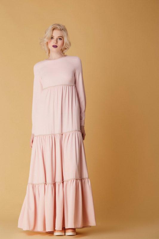 Вечернее платье Розовый жемчуг - фото 1