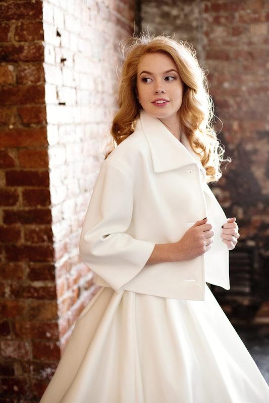Свадебное пальто: К329
