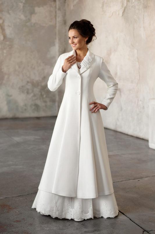 Свадебное пальто: Л001 - фото 3