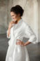 Свадебное пальто с поясом: К471 - фото 2