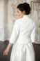 Свадебное пальто с поясом: К471